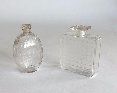Houbigant - (années 1920) 2 flacons en verre...