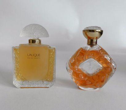 Lalique Parfums (années 2000). Lot comprenant...