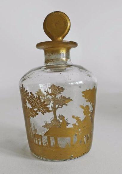 Travail français, 1880/1900. Flacon à parfum...