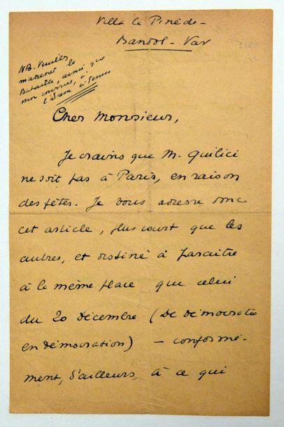 BERNANOS (Georges) écrivain français (1888-1948)...
