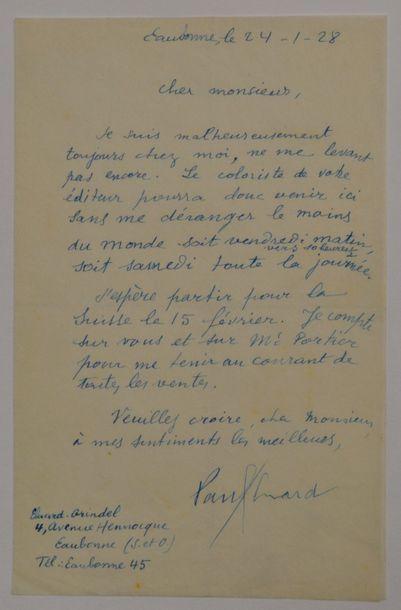 ELUARD (Paul) poète français (1895-1952)...