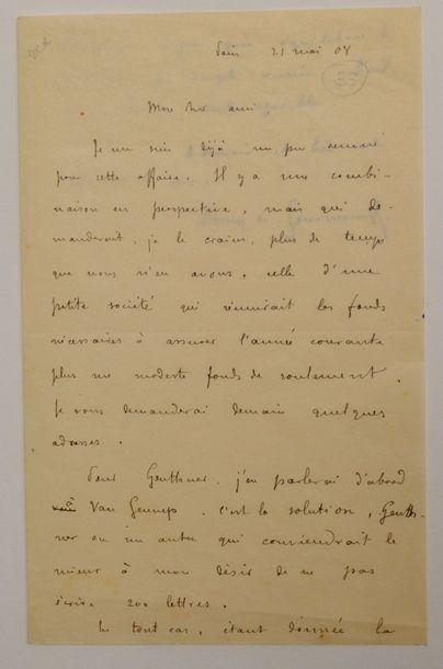 GOURMONT (Rémy de) écrivain français (1858-1915)...