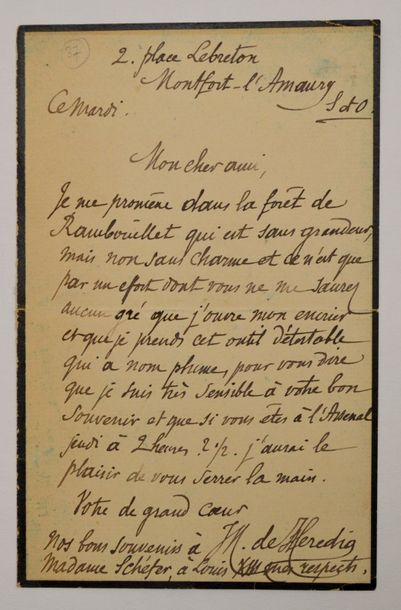HEREDIA (José-Maria de) poète et écrivain...