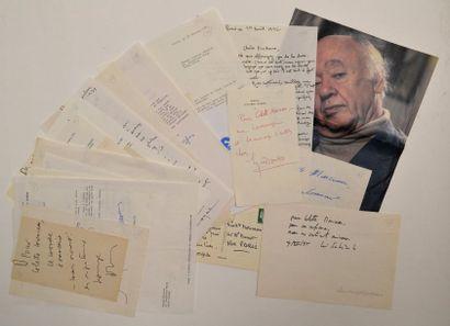 LITTERATURE - Ensemble de 25 lettres autographes...