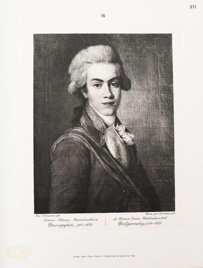 PORTRAITS RUSSES des XVIII° et XIX° SIECLES. Edition du Grand-Duc Mikhaïlovitch....