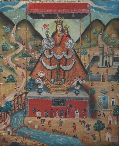 Dans le gout de l' Ecole de Cuzco du 18è Vierge...
