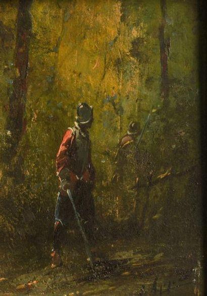 Georges APPERT (1850-1934) Deux panneaux...