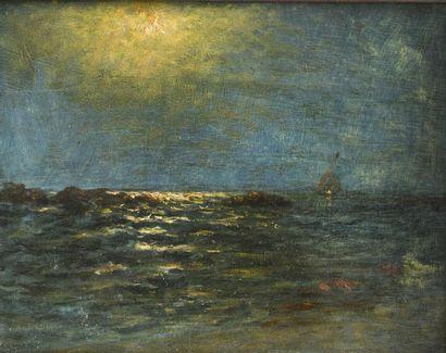 Vincent AMBROSINI (1905-1982) Marine Huile...
