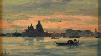 Antony Paul Emile MORLON (c.1845-1905). Venise...