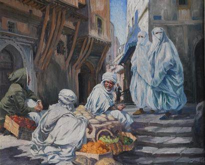 Adolphe COSSARD (1880 - 1952). Dans la Kasbah...