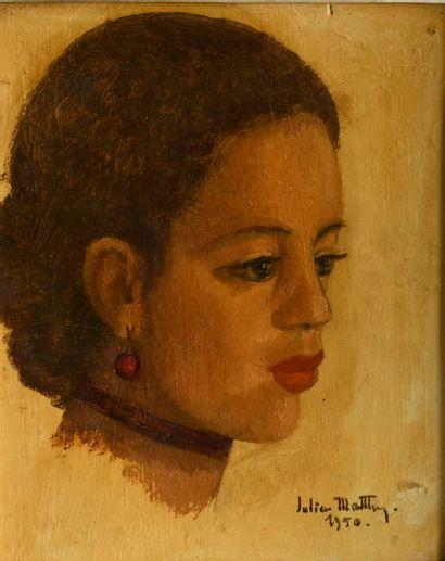 Gill-Julien MATTHEY (1889-1956).  Portrait...