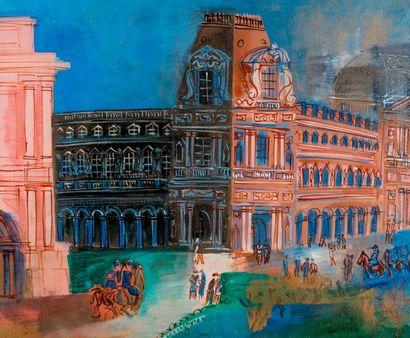 Rectificatif de date // Jean DUFY (1888-1964). Paris, le Carrousel du Louvre. 1927...