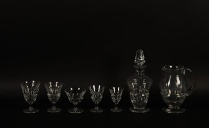 DAUM France, partie de service en cristal...