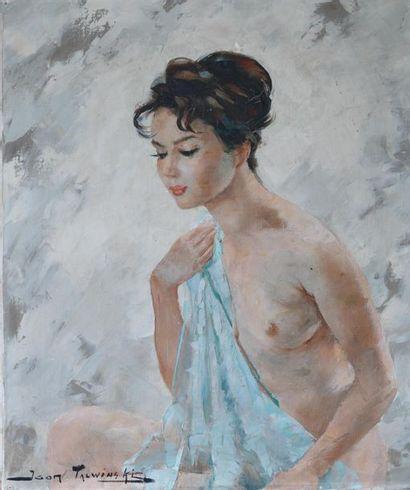Igor TALWINSKI (1907-1983). Portrait de femme...