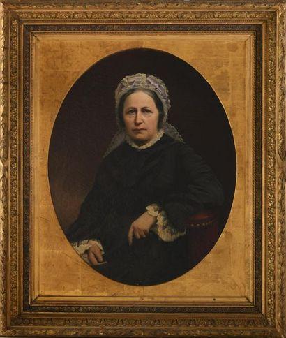 MOREAU-DESCHANVRES Auguste (1838-1913). Portrait...