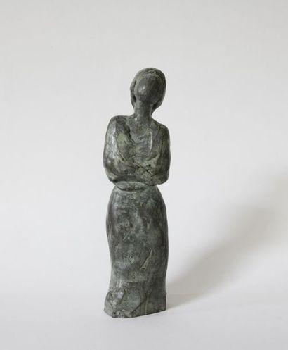 Muriel DUCHE (XXe) Sujet en bronze à patine...