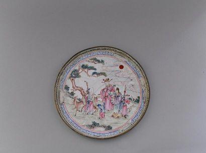 Chine, fin du XIXème siècle Paire d'assiettes...