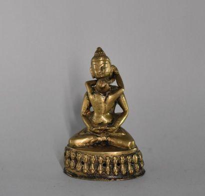 Tibet, XXème siècle. Statuette de divinité...