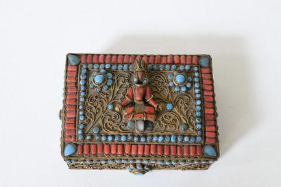 Tibet, début du XXème siècle. Reliquaire...