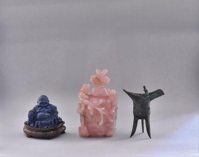 Lot comprenant : Chine, XXème siècle. Vase...