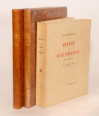 BERTRAND (Louis). Pépète et Balthasar. Mœurs...