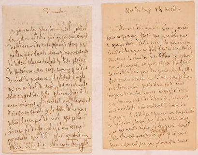 CHATEAUBRIAND (François-René de). 2 lettres...