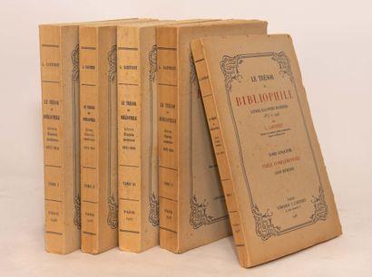 CARTERET (L). Le trésor du bibliophile. Livres...