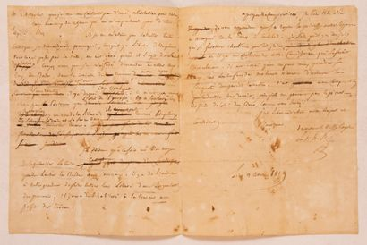 FOUCHE (Joseph), Duc d'Otrante. Lettre autographe...