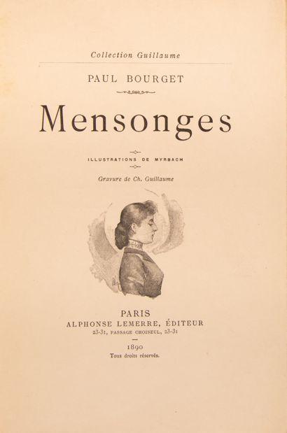 BOURGET (Paul). Mensonges. Illustrations...