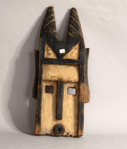 MALI  Masque en bois sculpté polychrome  XXe,...