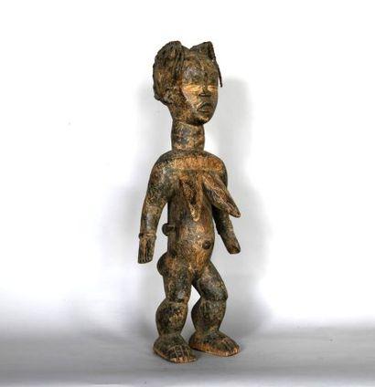 COTE D'IVOIRE  Maternité en bois sculpté...