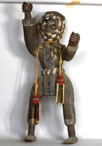 CAMEROUN  Statue de personnage en bois polychrome...