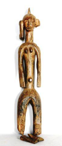 NIGERIA  Statue en bois à patine marron  XXe,...