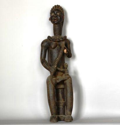 CAMEROUN  Grande statue de reine mère en...