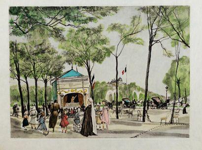 HERON DE VILLEFOSSE (René) LA RIVIERE ENCHANTEE. Eaux-fortes originales de Foujita....