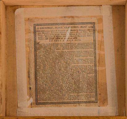 Jean François HACHE (1730-1796) Petit secrétaire, le bâti en bois naturel et cerisier...