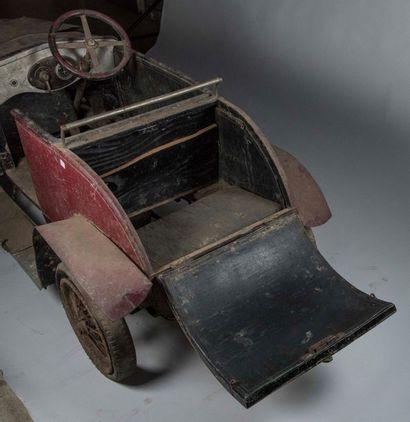 Voiture d'enfant à propulsion électrique carrosserie en tôle siège supplémentaire...
