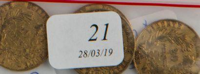 Quatre pièces or 20 FF République de 185...