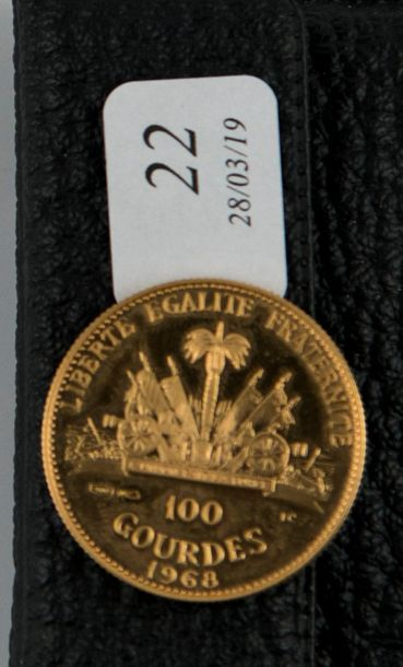 Pièce or 100 gourdes République d'Haïti....