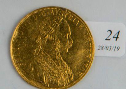 Pièce or 4 ducats autrichiens de 1915