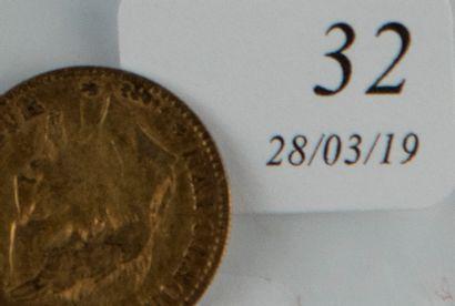 Pièce 10 FF or Napoléon III Lauré de 186...
