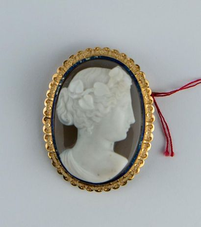 Importante broche époque Napoléon III, sertie...
