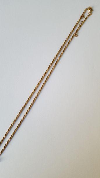 Chaîne de cou en or jaune 18K (750 millièmes),...
