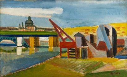 James BANSAC (né en 1924). Pont de l'Université,...