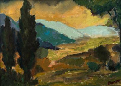 James BANSAC (né en 1924). Paysage d'Isère....