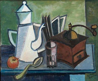 James BANSAC (né en 1924). La cafetière,...