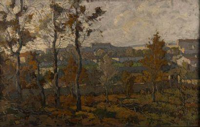 Eugène BROUILLARD (1870-1950). Le mur d'enceinte....