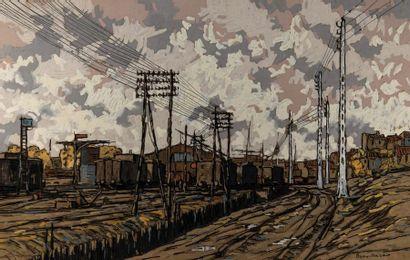 Eugène BROUILLARD (1870-1950). Lignes téléphoniques,...