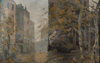 Eugène BROUILLARD (1870-1950). Le gros caillou...