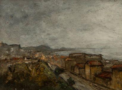 Louis Hilaire CARRAND (1821-1899). Faubourg...